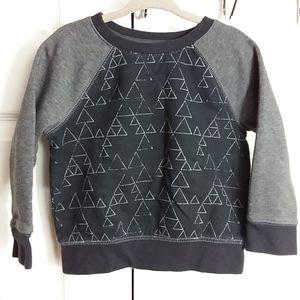 Cat & Jack Black and Gray Patterned Sweatshirt 2T